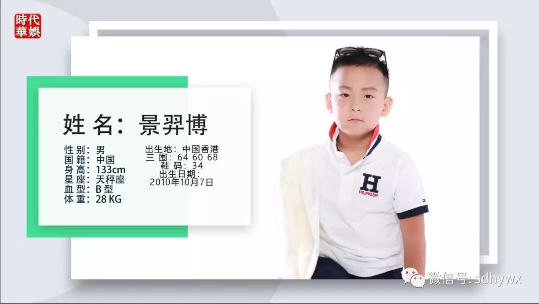 时代华娱金牛星团成员景羿博